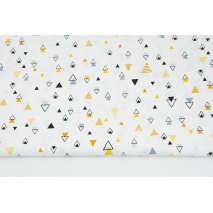 Cotton 100% honey-gray mini pyramids on a white background II quality