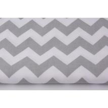Cotton 100% light gray chevron zigzag 155 cm