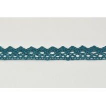 Cotton lace 15mm in a dark sea color