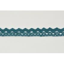 Koronka bawełniana 15mm, ciemny morski