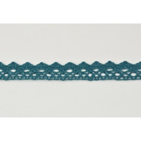 Cotton lace 15mm in a dark sea color