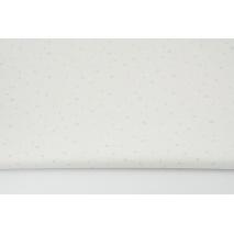 Cotton 100% mini mint spots on a white background