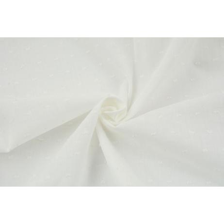 Cotton 100%, plumeti ecru