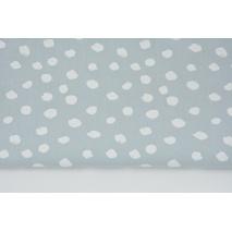 Bawełna 100% białe plamki na jasnym szarym tle II jakość