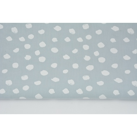 Cotton 100% white spots on a light gray background II quality