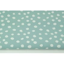 Cotton 100% white spots on a bright azure background II quality