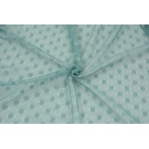 Soft tulle with dots, sage green