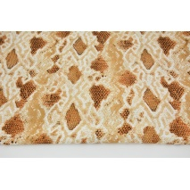 Viscose 100% snake skin on a light caramel background