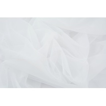 Chiffon, plain white