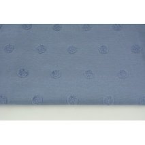 Knitted fabric with fluffy dots, blue
