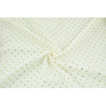 Double gauze 100% cotton golden stars on an ecru background