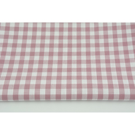 Cotton 100% double-sided dirty pink vichy check 1cm
