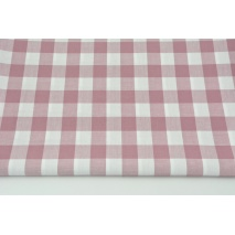 Cotton 100% double-sided dirty pink vichy check 2cm