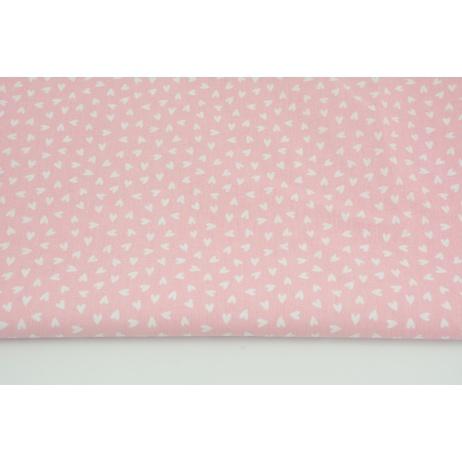 Bawełna 100% małe serduszka na różowym tle