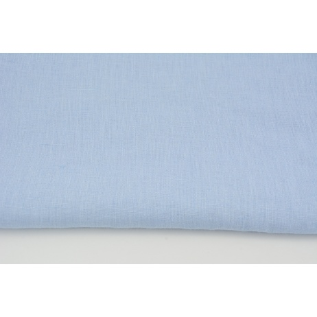 100% plain linen in a blue color, softened