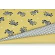 Cotton 100% zebras on a light honey background