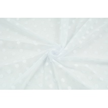Soft tulle with dots, white