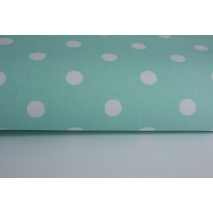 HOME DECOR polka dots 17mm on a mint background 100% cotton II quality