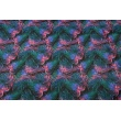 Cotton 100% colorful palm leaves on a black background R