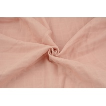 Cotton double gauze, tetra, plain smoky pink