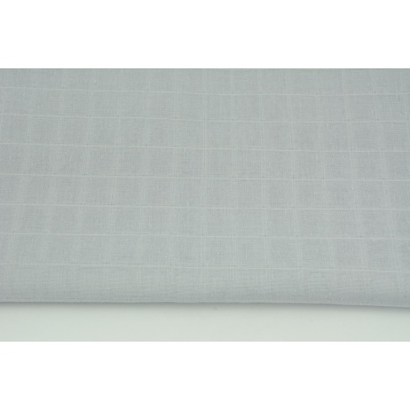 Cotton double gauze, tetra, plain light gray