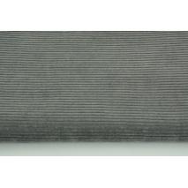 Dzianina, sztruks ciemny szary 250 g/m2