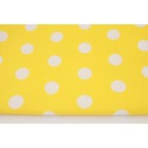 Bawełna 100% kropeczki,kropki 22mm, żółte tło
