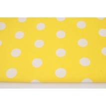 Cotton 100% polka dots 22mm on a yellow background