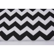 Cotton 100% black chevron zigzag