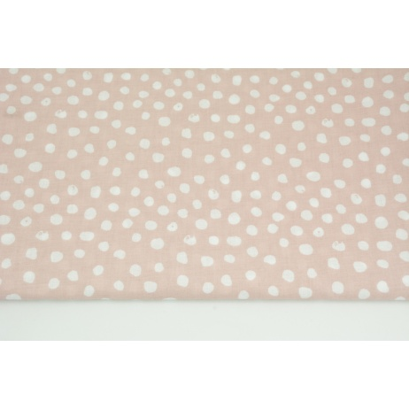 Cotton 100% white patches on a powder pink background