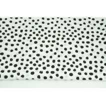 Cotton 100% black patches on a white background