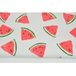 Looped knitwear watermelons on a white background