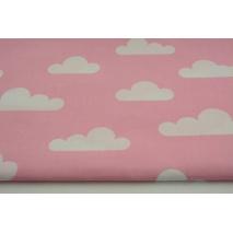 Bawełna 100% chmurki na różowym tle II jakość