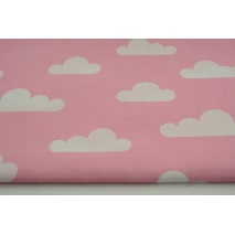 Cotton 100% white clouds on a pink background II quality