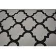 HOME DECOR black moroccan trellis on a white background