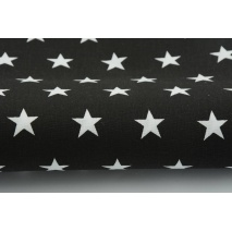 Cotton 100%, stars 20mm on a black background II quality