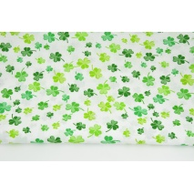 Cotton 100% green clover on a white background