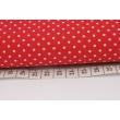 Bawełna 100% kropki białe 2mm na czerwonym tle