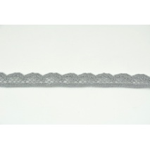 Cotton lace 15mm dark gray