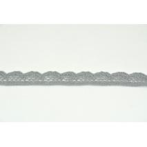 Koronka bawełniana ciemny szary 15mm