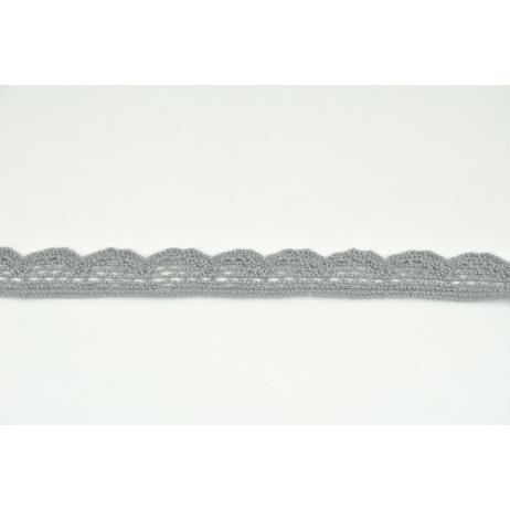 Cotton lace 15mm dark gray