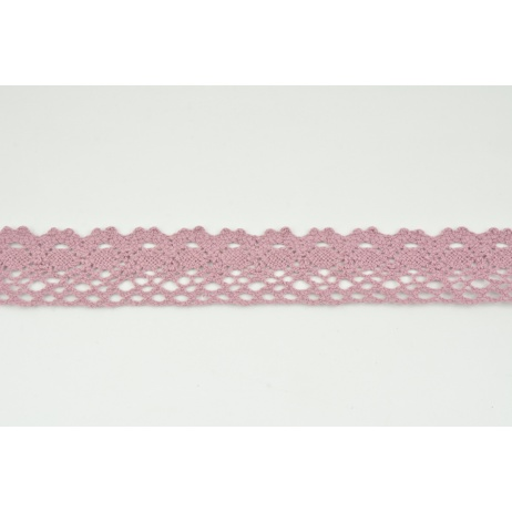 Cotton lace 28mm in a dirty heather color