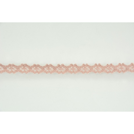 Lace 10mm in a dirty pink color