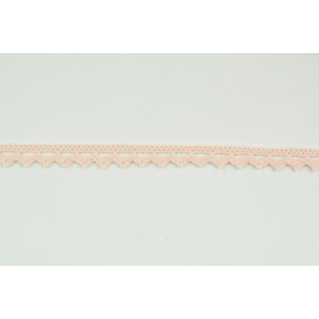 Cotton lace 9mm in a salmon color