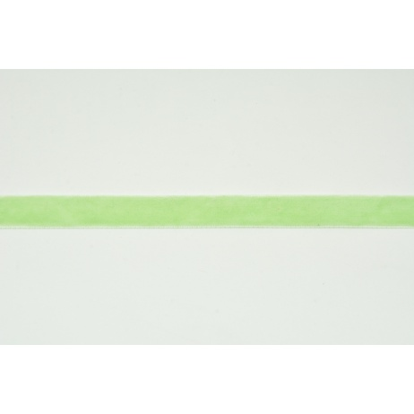Velvet ribbon, light green 1m