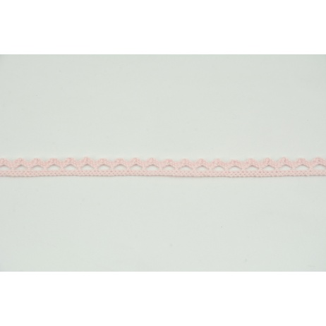 Cotton lace 9mm in a light pink color