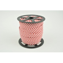 Cotton bias binding red stripes 15mm (narrower)