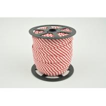 Cotton bias binding red stripes 15mm (narrower)