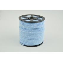 Wypustka bawełniana, biała łączka na niebieskim tle