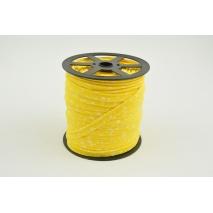 Wypustka bawełniana, biała łączka na żółtym tle